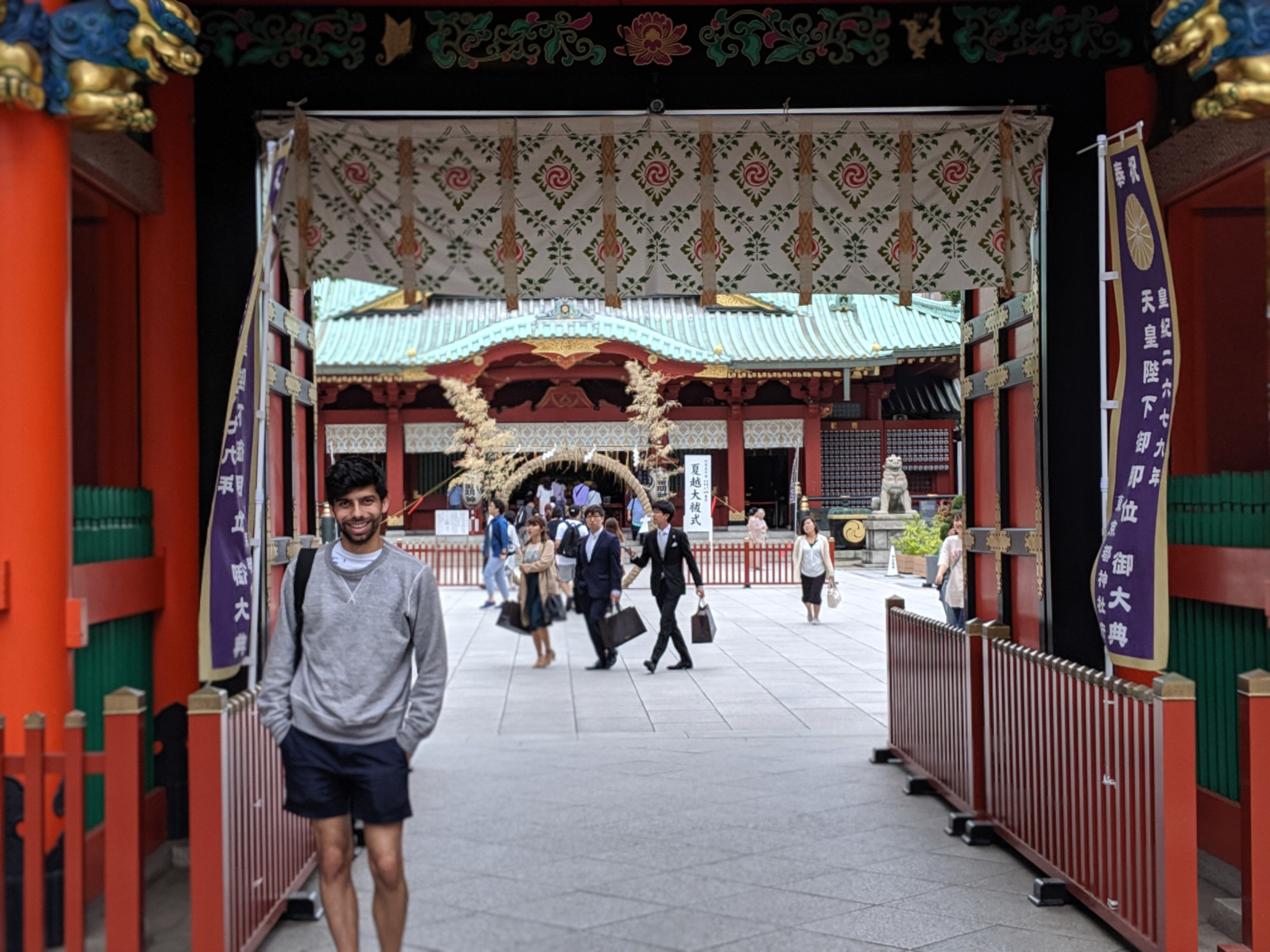 Me in front of yet another shrine