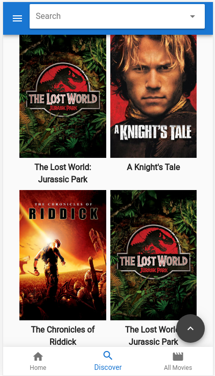 Note the two Jurassic Park posters - that's not how things are supposed to be!